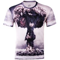 atomic gold - Sell like hot cakes Autumn Men Explosion of Atomic Bomb D Creative Floral T Shirt Punk Three D Short sleeve Tee Shirt S XL