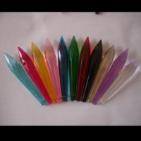 Wholesale 35 mm mixed color crystal glass icicle multifaceted icicle pendnat chandelier crystal parts suncatcher parts of window screen