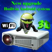 Wholesale 2015 Built in Android Brightest lumens Full Led Android Daytime BLH Projector Digital D Smart video led Projector