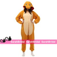 animal jumpsuit pajamas - Charmander Anime Cosplay Party Costumes Leisure Household Animal Outfit Pajamas Jumpsuit Onesies for Sale Comfy Sleepwear Homewear Cheap
