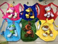 Wholesale 2016 Designs Kids Cartoon School Bag Paw Dog Plush Backpacks Kids Patrol Puppy Cartoon Stuffed School Bags Kids Shoulder Bags bk046