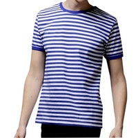 active navy ships - Hot sale New Summer Fashion Men s Short Sleeve Stripe T Shirt Casual Male O neck Sailor Tops Navy T Shirt
