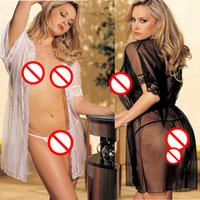 adult bathrobes - Women Sexy Lingerie Hot Negligee Lace Stripper Clothes Sleepwear Bathrobe Female Sexy Underwear Sexy Costumes Erotic For Adult