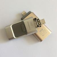 Wholesale New Genuine Capacity Flash Drive GB in Otg USB Flash Drive For iPhone s c Plus ipad Flashdrives Pendrives