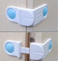 Wholesale Cabinet Drawer Cupboard Refrigerator Toilet Door Closet Plastic Lock Baby Safety LockCare Child Safety Baby Finger Protection