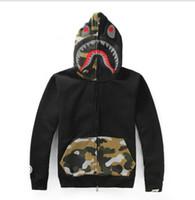 Men animal print outfits - 2016 Spring Shark Camouflage Hoodie Camo Clothing Men Sweatshirt Fashion Couple Outfit Boys Streetwear Thrasher Hiphop HBA Sweatshirts HL885
