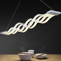 Wholesale New design Wave shape W modern pendant lights for dinning room dimmable led light creative hanging lamp lamparas