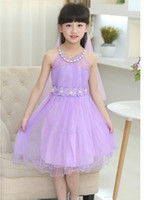 Wholesale High Quality Summer Casual Girl Dresses Princesses Baby Dresses Lace Flowers Dresses Christening Dresses Party Dresses