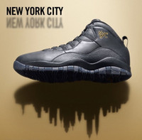 Party Sneakers Medium(B,M) [310805-012] RETRO 10 X NYC new 2016 BLACK METALLIC GOLD-GREY Price Size 41-47