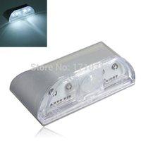 auto door sensor - 4 LED PIR Infrared Detection Auto Motion Sensor Wireless Night Light Home Door Keyhole Light Lamp