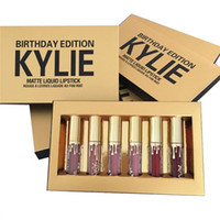 Wholesale Hot sales new kylie jenner birthday edition lip kit gloss set cosmetics matte liquid lipstick color make up W038