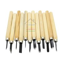 Wholesale High Quality Wood Handle Carving Mini Chisels Kit Handy Cutting Burin Tools Set order lt no track