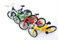 Wholesale 100pcs new Alloy finger bikes Strange new desktop toys CM children finger bikes DHL