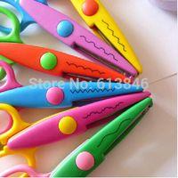 Wholesale DIY Plastic Decorative Craft Enfant School Scissors for Paper Cutter Scrapbooking korea Stationery