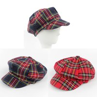 Wholesale Womens Visor Beret checked Newsboy Hat Cap