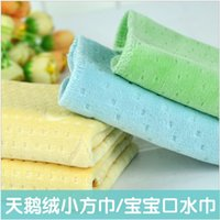 Wholesale Infant handkerchief velvet small towel newborn face towel bandanas child saliva towel