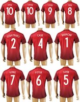 Wholesale 2016 Turkey Soccer Jerseys Home Away Thailand Maillot de Football Shirts Babacan Ozbayrakli Calik Sahin Potuk Gonul Inan Tosun Turan Arda