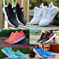 baseball print fabric - 2016 Air Huarache Run Ultra Originals Sneakers Men Women summer White Black Navy Pink Blue Colors Print Running Shoes with Original Box