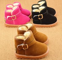 Wholesale 2016 brand Snow boots boy girl boots warm children s boots Fashionable boots for Kids