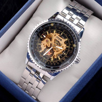 automatic - 2016 Luxury MCE Mens Business Watch Automatic Stainless Steel Mechanical Watches For Men Drop Shipping DHL