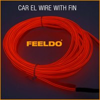 Red ar toyota - 5set Red m Flexible Moulding EL Neon Glow Lighting Rope Strip with fin for Car Decoration ar Decoration