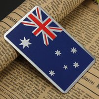 Wholesale Audew Car Accessories Sticker Metal D Australian Flag Metal Car Badge Chrome Car Emblem All Wheel Drive Auto Sticker