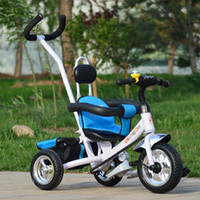 baby bike wheel - New Design Steel Frame Baby Bike Stroller Durable wheels Baby Tricycle Multi Functional Folding Child Bicycle Strollers JN0096