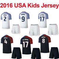 Wholesale 16 USA Youth Jerseys Kits Copa America USA Home Away Kids shirts DEMPSEY YEDLIN ALTIDORE children jersey Set