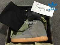 Wholesale Adidas Yeezy Boost Light Grey Gum BB1840 Yzy Men Women Kanye West Shoes Classic Glow In The Dark Yeezys Basketball Shoes Sneaker