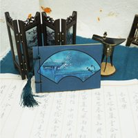 ancient chinese writing - Original Retro Memo Notepad Chinese Ancient Writing scratch Pad Wire bound Blank Sticky Note With A small Tassel Journal Sketchbook