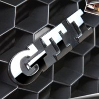 Wholesale GTI Volkswagen Grille Emblem Metal Colors Car Auto Grill Badge Emblem Sticker for VW Polo VW Golf Golf