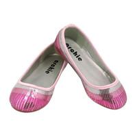 achat en gros de filles robe gros de chaussures-Argent Or Rose Noir de 2016 enfants en gros satin Textile Sequines Ballerina Robes Chaussures Toddler Girls Party Wedding Zapatos