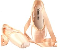 Wholesale WENDYWU womens Dance Shoe Pink Satin Ballet Pointe Shoes size