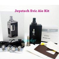 Wholesale Evic Aio E cig Kit Original Joyetech Evic Aio Kit w ml Vaporizer Suit NotchCoil LVC QCS Coils VS Kanger CUPTI Kit