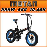 bicycles folding bikes - PRE SALE Addmotor MOTAN Speeds E bike M Sport Blue FOLDING Fat tire E Bike W V AH quot Electric Bicycle