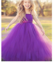 Wholesale New Long party dresses Vintage Baby Girl Birthday Party Christmas Communion Dresses Children Girl Party Dresses Hot