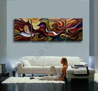 art canvas letters - Hot Sale Modern Dark Clouds Line Letter Oil Painting On Canvas Panel Arts Set Home Abstract Wall Decor Picture for Living Room