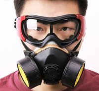 Wholesale Newest direct selling chemical gas mask dust respirator masks pesticide dustproof safe paint special with goggles