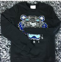 Wholesale KENZ00O MEN WOMEN EMBROIDERE TIGER LOGO SWEATER HOODIES