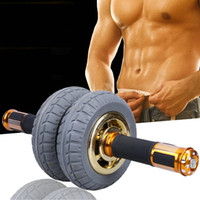 belly muscle exercises - 2 wheeled push up stand Fashion design ab rollers Exercise belly muscle push up tool Home sport abdomen exerciser
