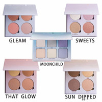 Wholesale New Glow Kit Metallic Powder Bronzers Highlighters Glow Face Makeup Bronzers Highlighter Powder Palette That Glow Gleam Good Quality