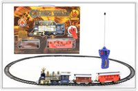 Wholesale 2016 Electric Light LED Parenting Remote Cycled Track Train Toy contains pieces