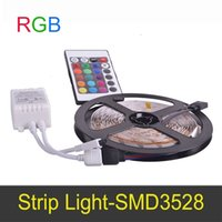 Wholesale Dimmable meter Flexible LED Strip Light RGB With Remote Controller V LED Bulb Lamp SMD3528 Connect By Receptor