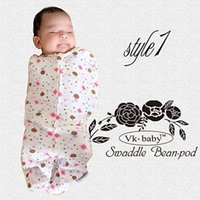 Wholesale cotton newborn swaddle pod baby sleeping bag Swaddle Blankets Baby Gifts