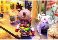 articles food - Christmas Decoration Candy Jar Creative Ornaments Sugar Bowl Santa Claus Snowman Elk Cartoon Food Cans Furnishing Articles Gift