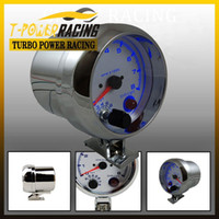 Wholesale 3 quot Universal rpm gauge with inter shift light Chorme Color Auto gauge Tachometer Auto meter Car meter Racing meter