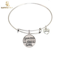 Wholesale BECAUSE I AM A GIRL Newest alex and ani bangles BRACELETS Vintage Silver Plated Charm Bracelets Pulseras for Women