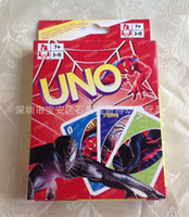 Wholesale 120sets Hot Sale Spiderman UNO Cards Cartoon UNO Playing Card Game Family Toy G450