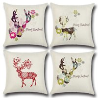amazon sofa - Amazon wish hot hot style elk Christmas color pillow individuality creative home Christmas gifts