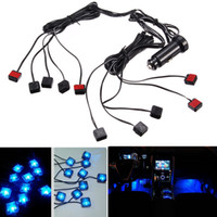 Wholesale 10 in V Car Atmosphere Blue Lights Auto Led Interior Decoration Lamp with Cigarette Lighter CLT_20L